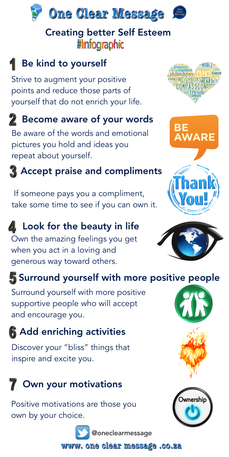 Creating better Self Esteem Infographic