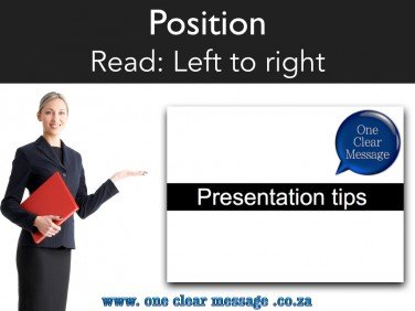 Where to stand when presenting - presentation tips presenter position