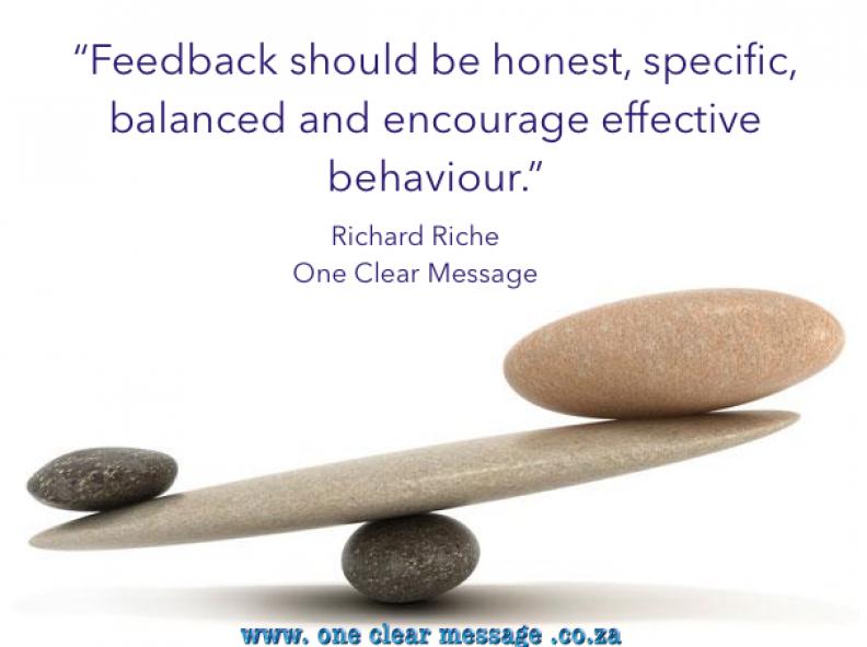 balanced feedback