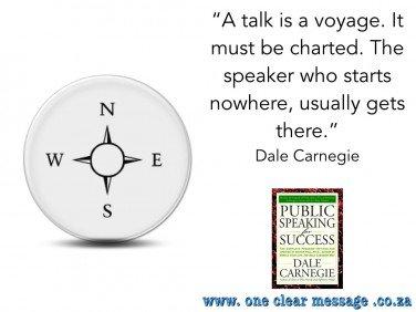 presentation skills - your talk is a voyage - dale carnegie