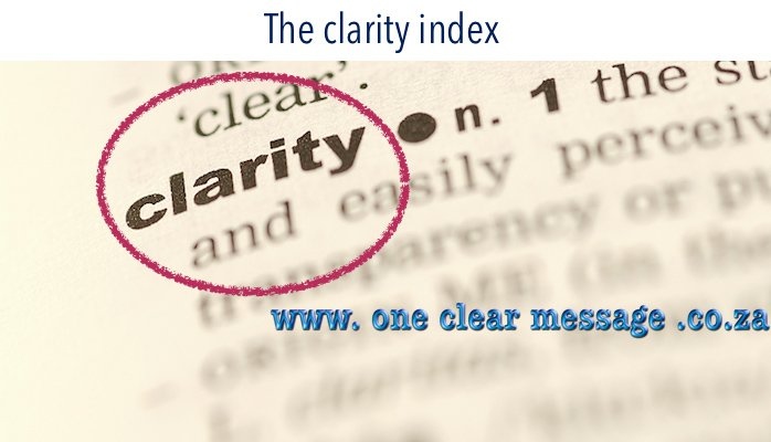 The clarity index