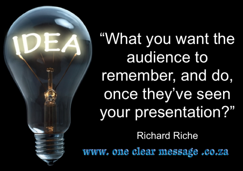Presentation tips for business idea point takeaway
