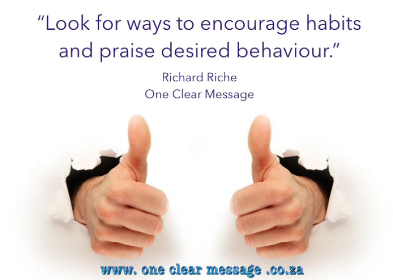 praise behaviour change management