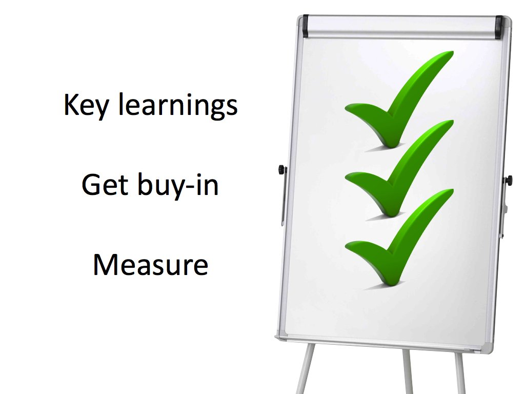 Effective training tips