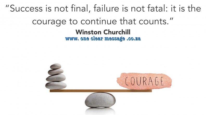 #Courage to #DemonstrateLeadership in business - #WalkyourTalk