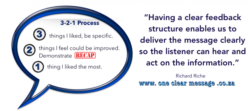 Clear Feedback structure helps the listener and speaker