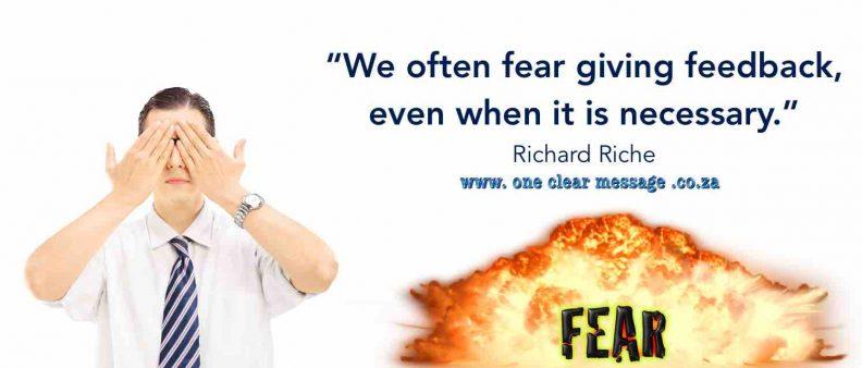 fear giving feedback