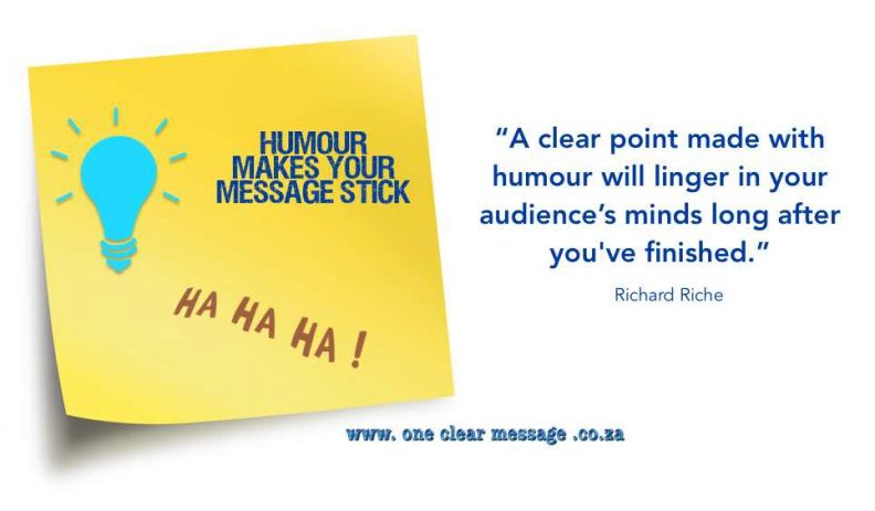 laughter makes it stick in speech design