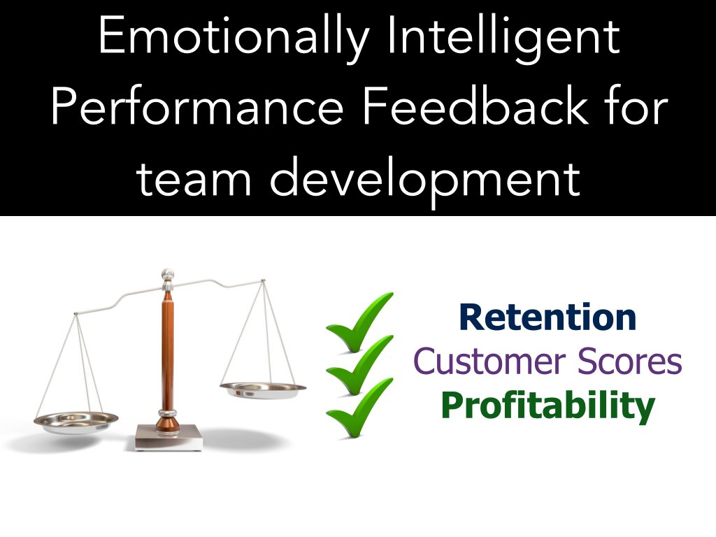 Emotionally intelligent performance feedback
