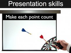 Presentation skills training make each point count
