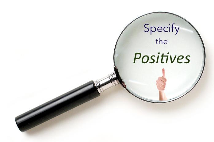 Performance feedback speaker: Specific positive feedback