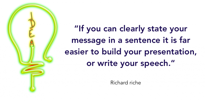 Presentation skills clearly state your message in a sentence