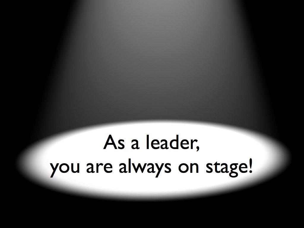 leadership, we are always on stag
