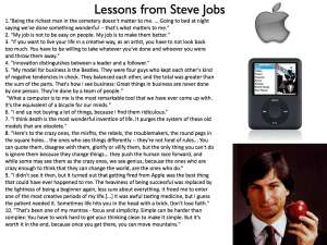 lessons steve cluttered