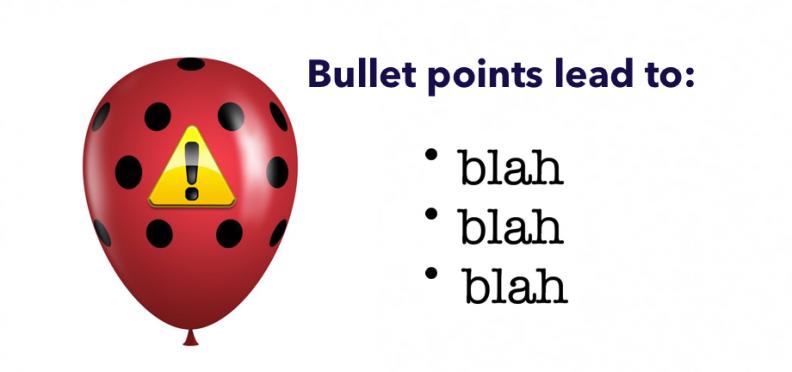 warning boring bullet points ahead