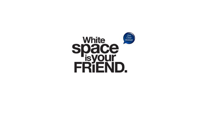 Slide design tips: white space