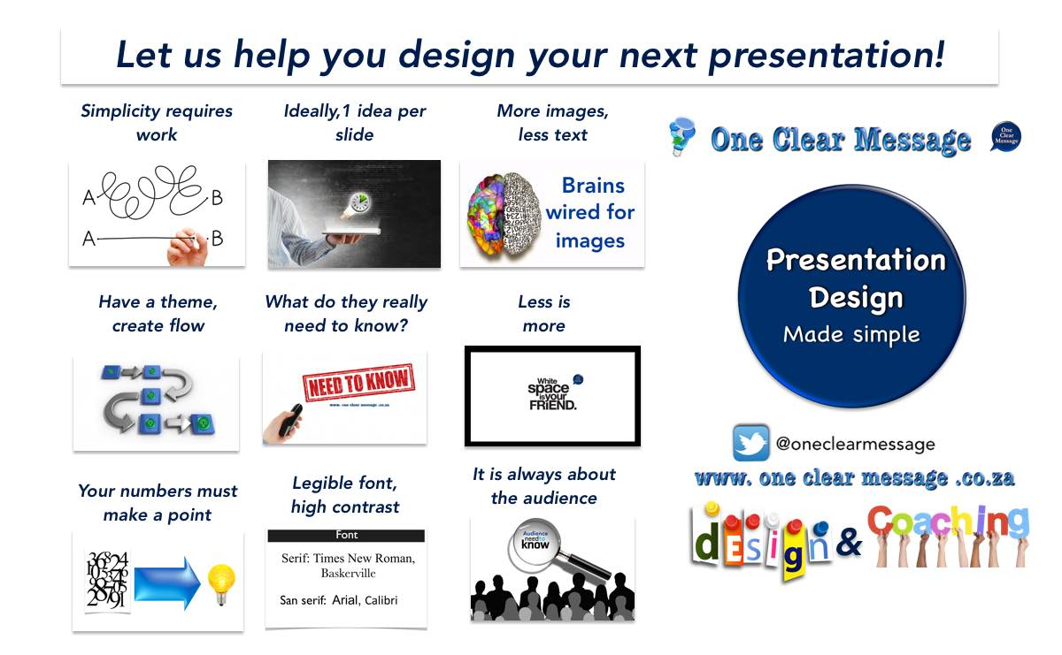 Let us help you! presentation design made simple. Speaking and Presentation coaching and slide design