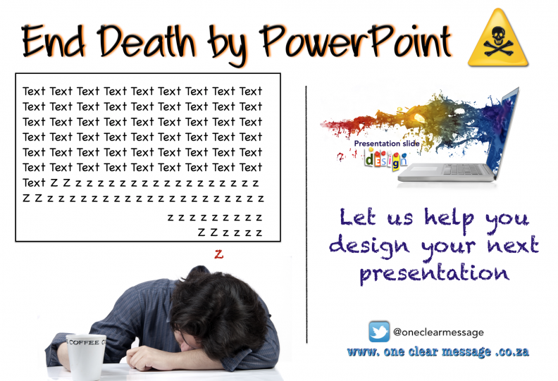 let us help you end death by powerpoint - Presentation coaching and design