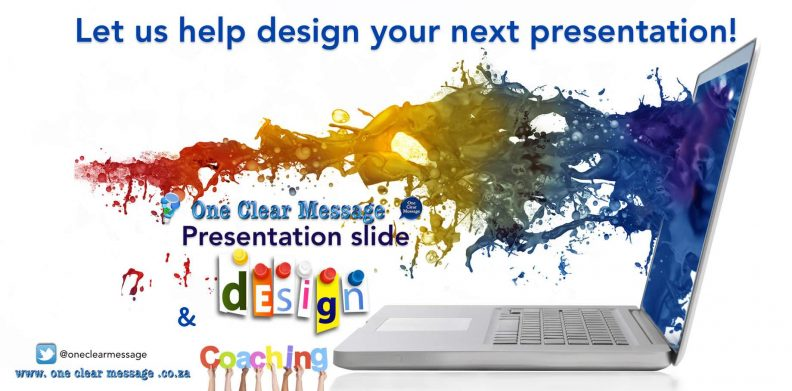 presentation coaching and slide design One Clear Message