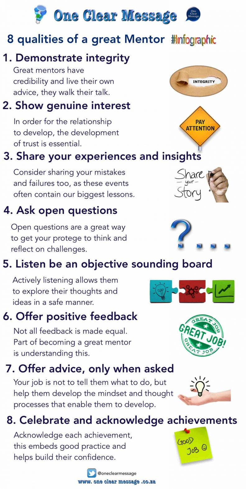 8 qualities of a great Mentor infographic