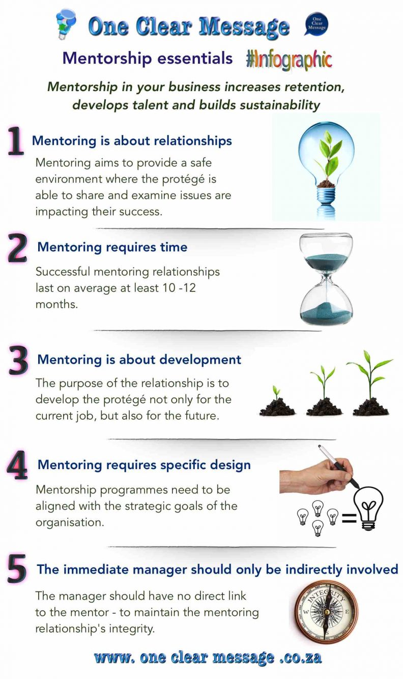 Design elements of business Mentorship Infographic