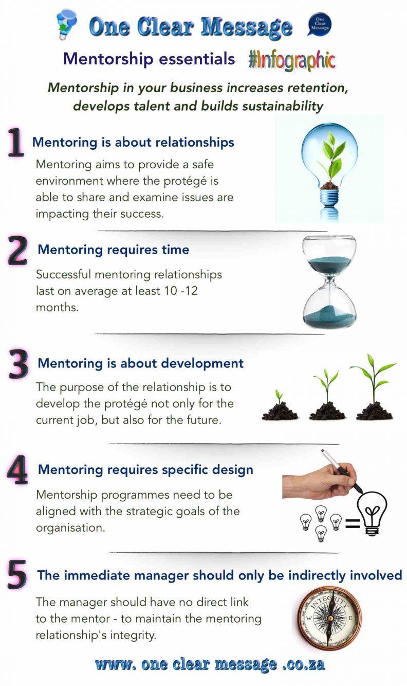 Design elements of business Mentorship Infographic