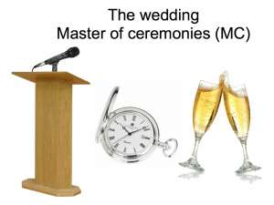 wedding Master of Ceremonies tips