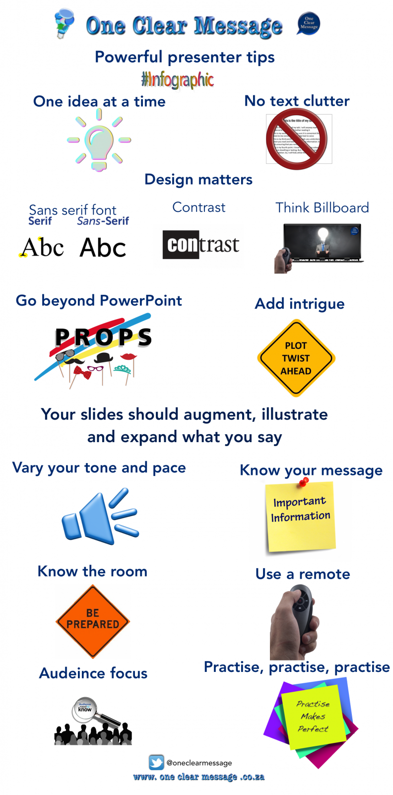 Powerful presenter tips infographic