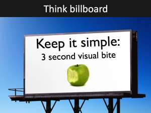 Think billboard in slide design Powerful presenter tips