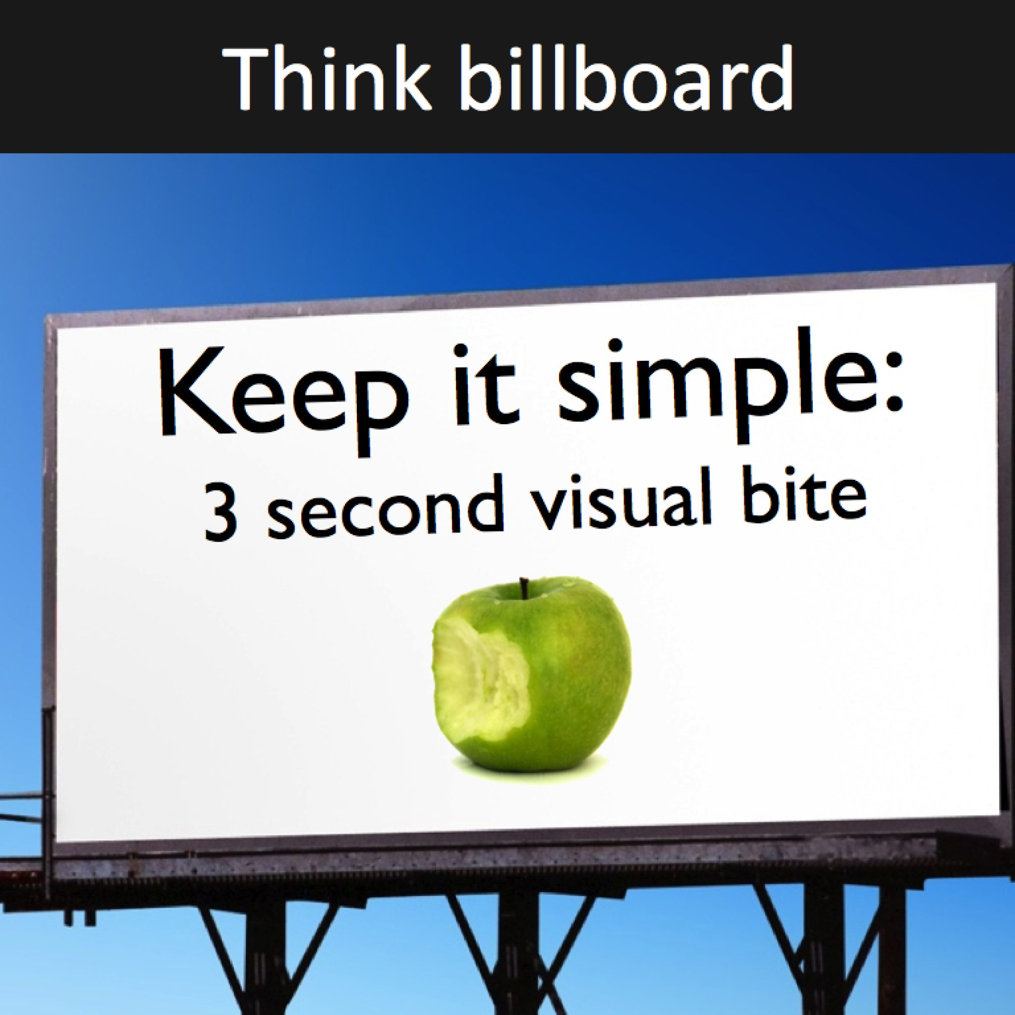 Think billboard in slide design