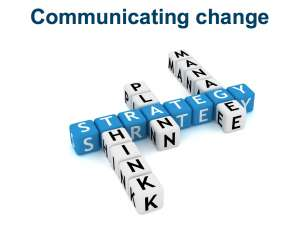 Communicating change in your organisation