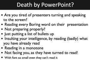 Presentation skills: Bullet points limit the presenter