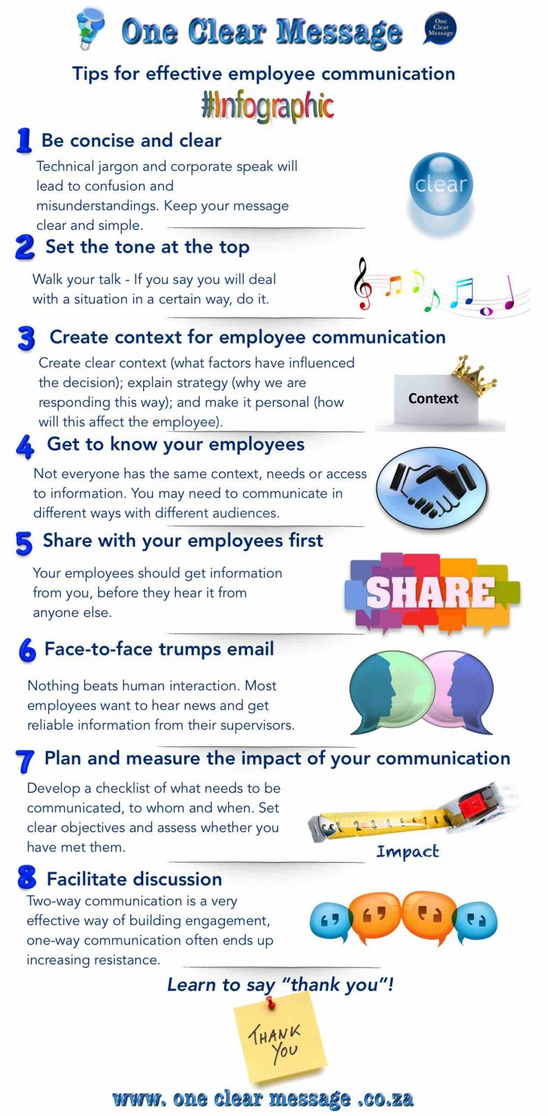 tips for effective employee communication Infographic