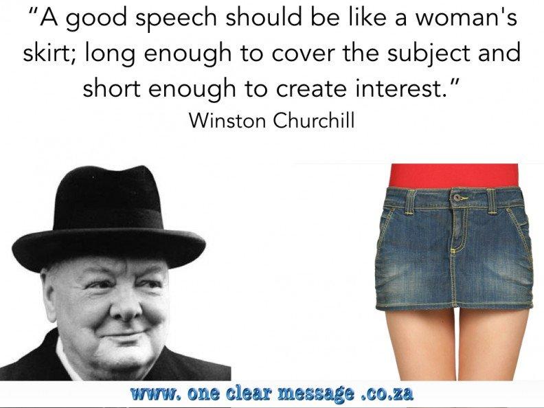 Churchill speech length