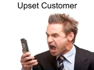 Winning over upset customers