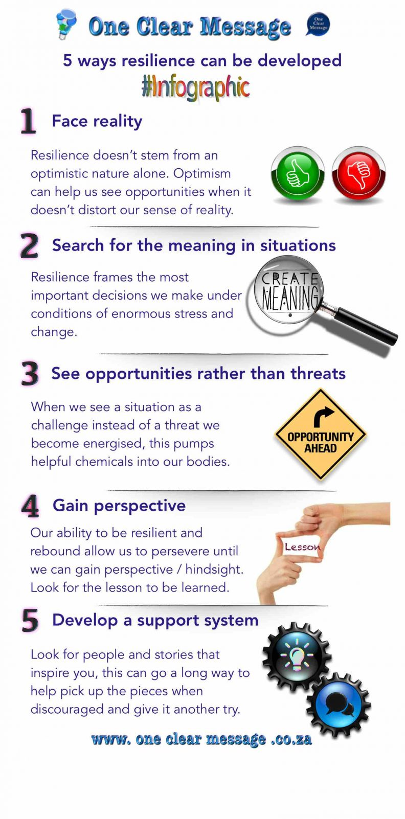 5 ways resilience can be developed Infographic