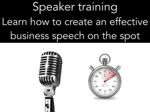 speaking tips