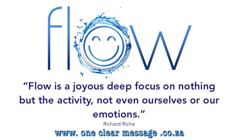flow is joy in  the activity