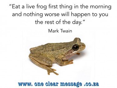 Emotionally Intelligent frog lists for time management