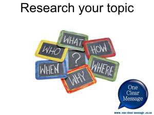 Tips on research for presentations cc7