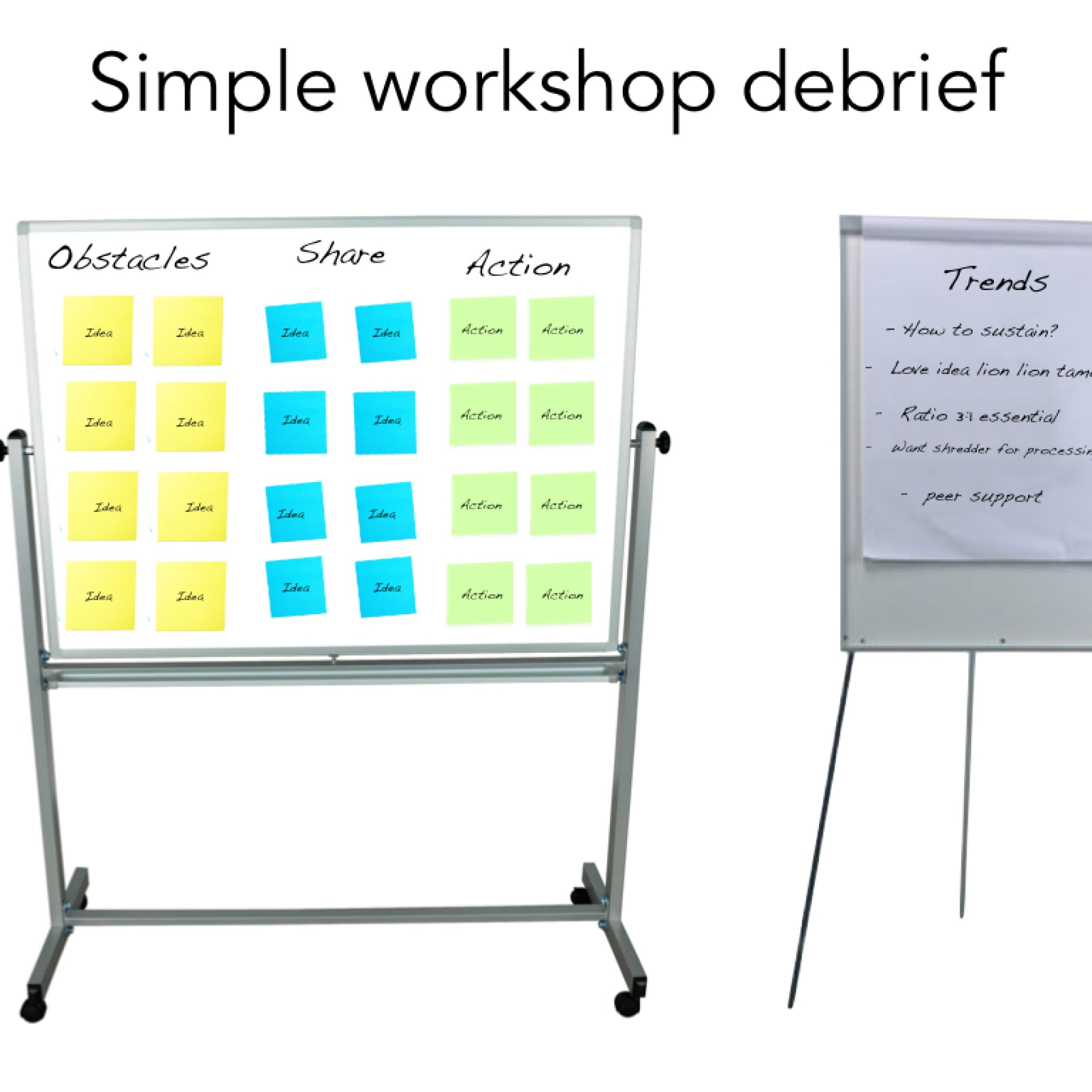 how to run a simple workshop debrief