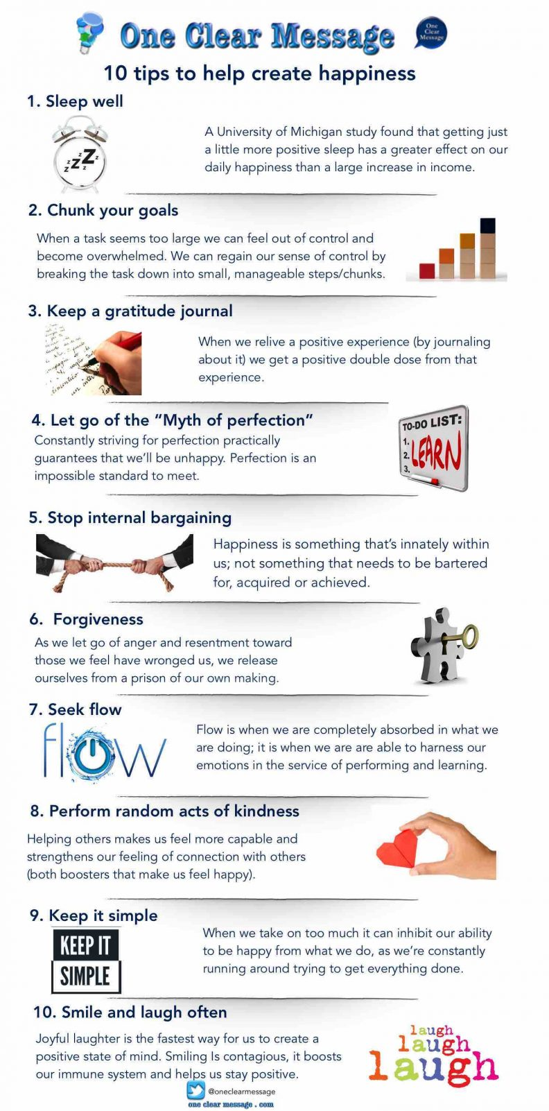10 tips to help create happiness #Infographic