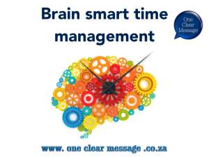 Brain smart time management