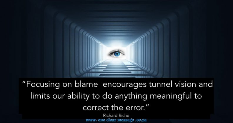 tunnel vision and difficult conversations