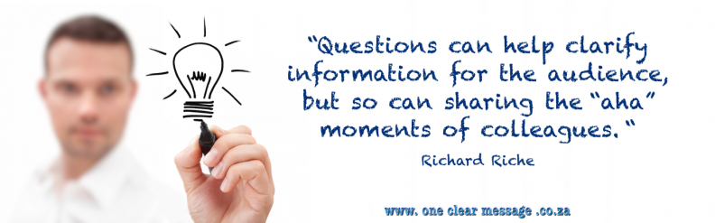 questions clarify ideas