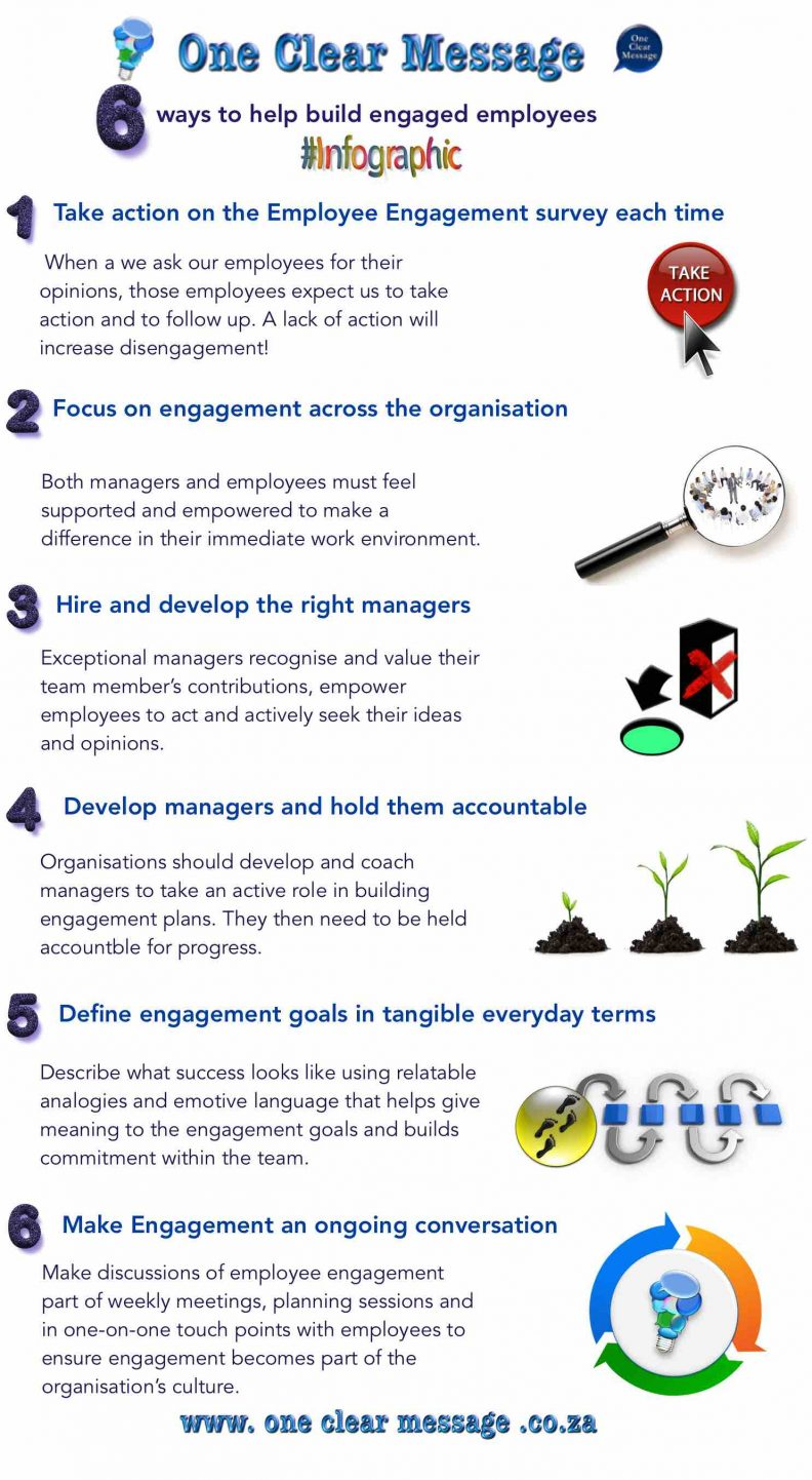 6 ways to help build engaged employees Infographic