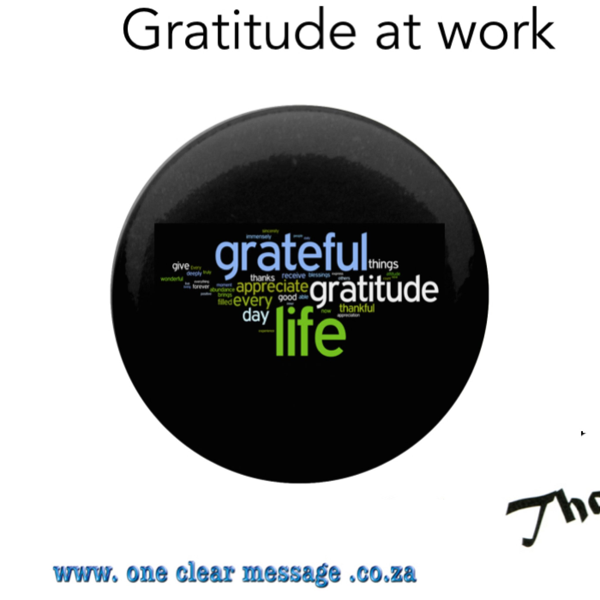 Building an attitude of gratitude at work
