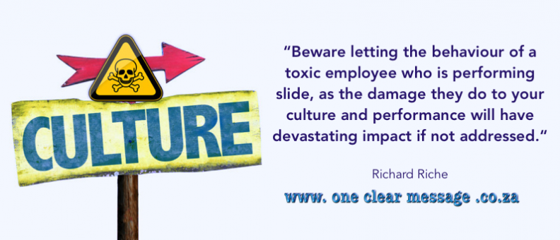 impact of ignoring toxic employee