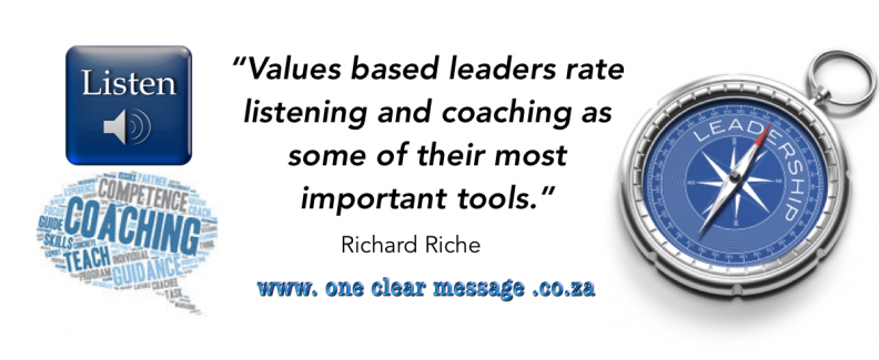 Listening coaching values based Leadership