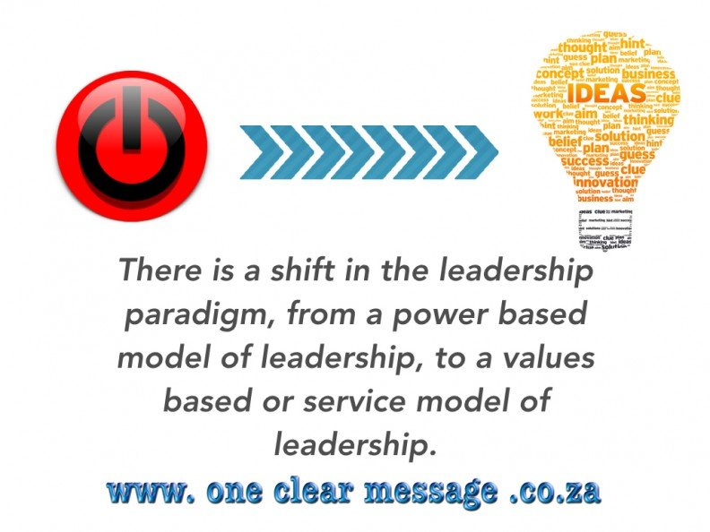 The power of values based Leadership